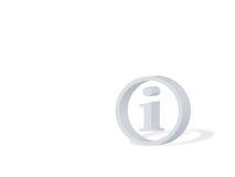 Símbolo da informação ilustração stock