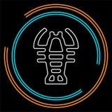 Símbolo da lagosta do vetor - marisco dos lagostins ilustração royalty free