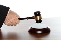 Símbolo da lei na tabela Fotos de Stock Royalty Free
