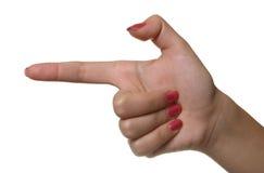 Símbolo da mão Fotos de Stock