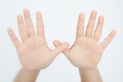 Símbolo da mão Foto de Stock