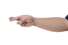 Símbolo da mão no branco isolado Fotografia de Stock