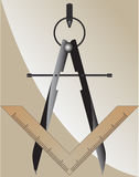 Símbolo da maçonaria Fotos de Stock Royalty Free