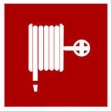 Símbolo da mangueira de incêndio Imagem de Stock