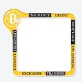 Símbolo da moeda do bocado Foto de Stock