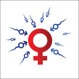 Símbolo da mulher e do homem Imagem de Stock