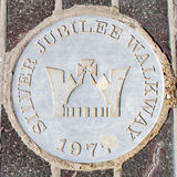 Símbolo da passagem do jubileu de prata Fotografia de Stock Royalty Free