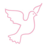 Símbolo da pomba da cor-de-rosa Imagem de Stock Royalty Free