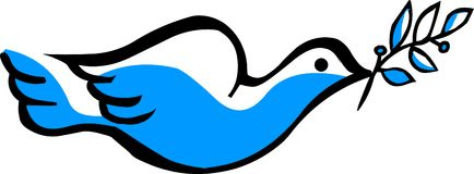 Símbolo da pomba do vetor no branco Imagens de Stock Royalty Free