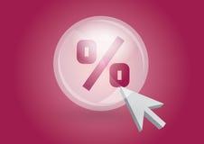 Símbolo da porcentagem Fotos de Stock