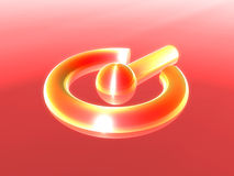 Símbolo da potência Fotos de Stock