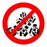 Símbolo da proibição da operação de descarga Foto de Stock Royalty Free
