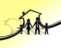 Símbolo da proteção da família Fotografia de Stock Royalty Free
