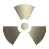 símbolo da radioactividade do ouro 3d Fotografia de Stock Royalty Free