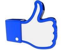 Símbolo da reação positiva Fotografia de Stock Royalty Free