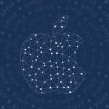 Símbolo da rede de Apple ilustração do vetor