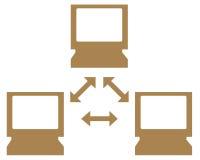Símbolo da rede informática Fotos de Stock