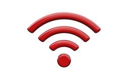 Símbolo da rede wireless dos Wi Fi Fotos de Stock Royalty Free