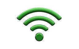 Símbolo da rede wireless dos Wi Fi Fotografia de Stock Royalty Free