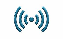 Símbolo da rede wireless dos Wi Fi Imagens de Stock Royalty Free