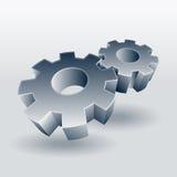 Símbolo da roda de engrenagem Fotos de Stock