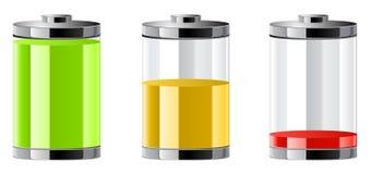 Símbolo das baterias Fotos de Stock