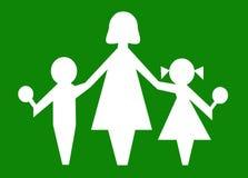 Símbolo das crianças dos miúdos dos bebês da mamã da matriz Fotos de Stock Royalty Free