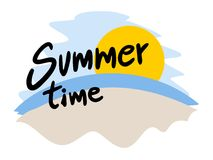 Símbolo das horas de verão Imagens de Stock