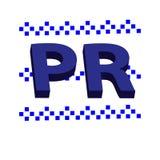 símbolo das relações 3D públicas isolado no fundo branco Fotografia de Stock Royalty Free