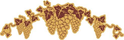 Símbolo das uvas Fotos de Stock Royalty Free