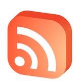 símbolo de 3D RSS Imagem de Stock