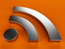 símbolo de 3D RSS ilustração stock
