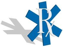 símbolo de 3D RX Imagens de Stock