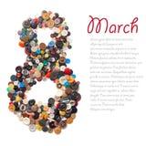 Símbolo de 8 março Imagem de Stock Royalty Free