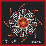 Símbolo de 2017 Imagem de Stock Royalty Free