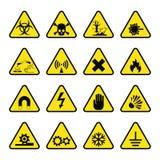 Símbolo de advertência do perigo do vetor da produção da indústria de sinais da proibição ilustração do vetor