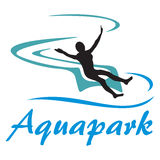 Símbolo de Aquapark Fotos de archivo