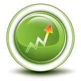 Símbolo de aumentação ambiental Fotografia de Stock Royalty Free