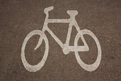 Símbolo de Bikeway Imágenes de archivo libres de regalías