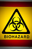 Símbolo de Biohazard. Imagen de archivo