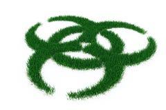 Símbolo de Biohazard de la hierba Fotos de archivo