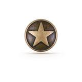 Símbolo de bronce de la estrella Imagen de archivo libre de regalías