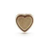 Símbolo de bronce del corazón Foto de archivo libre de regalías