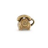 Símbolo de bronce del teléfono Fotos de archivo libres de regalías