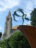 Símbolo de Córcega con la iglesia de Notre Dame de Lourdes foto de archivo libre de regalías