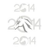 Símbolo de 2014. Caballo ilustración del vector