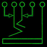 Símbolo de carta de fluxo 1 Fotografia de Stock