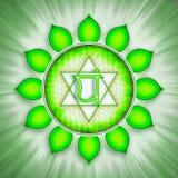 Símbolo de Chakra del corazón stock de ilustración