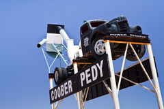 Símbolo de Coober Pedy fotografía de archivo libre de regalías