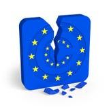 Símbolo de Copyright en la fractura de la bandera de unión europea libre illustration